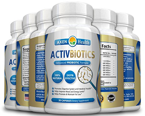 ActivBiotics ProBiotic - Promotes Healthy Digestion, a Strong Immune System & Optimum Overall Health * Potent, Effective & Guaranteed to Work or Your Money Back - (6 Pack) by Axen Health