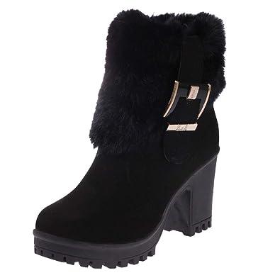 62e802d55d63 Stiefeletten Damen Winterstiefel Xinantime Schuhe Mädchen Low Heel Stiefel  Schnürung Ankle Boot Schuhe Kurze Stiefel Komfortable