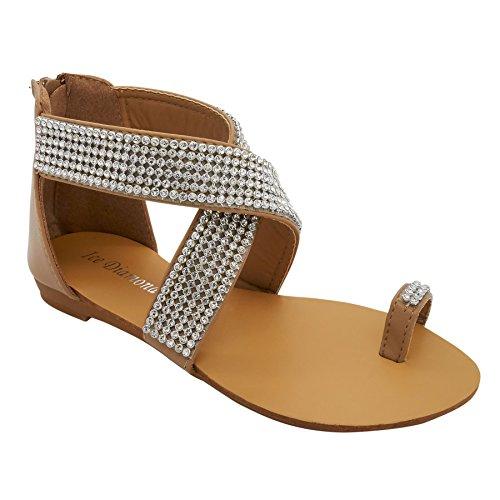 cheville femme de London Bride Footwear Beige qFxfPtUw