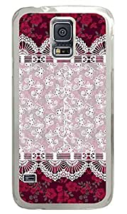 The Lace Pattern PC Transparent Hard Case Cover Skin For Samsung Galaxy S5 I9600