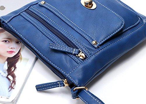 Bag Cross Blue Bags Travel Women's Bag Single Bags Satchel Retro Shoulder TUDUZ Leather Shoulder Body Fashion Totes Handbag Messenger qq7UrB