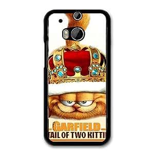 GARFIELD B9O6GU9X Caso funda HTC One M8 Caso funda del teléfono celular Negro