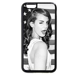 UniqueBox - Customized Personalized Black Soft Rubber(TPU) iphone 5C+ Case, American Famous Singer Lana Del Rey iphone 5C case, Only fit iphone 5C+ ( Inch)