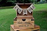 Personalized Wedding Card Box with Engraved Name