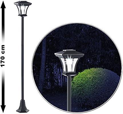 Royal Gardineer – Lámpara de jardín: farola de jardín solar LED, SWL-20, 0,18 W, 12 lúmenes, IP44, 170 cm de alto (farola solar de exterior): Amazon.es: Jardín