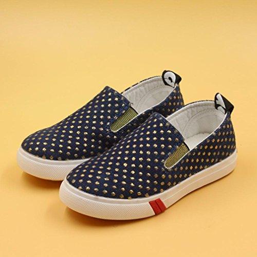 Sunnyoyo 4-6 Jahre alt Kinder Mode Pailletten Jungen Mädchen Leinwand Turnschuhe Casual Faule Schuhe Marine