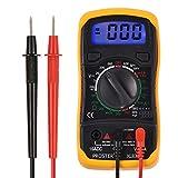 Proster Digital Multimeters Mini Digital Auto Range Multimeter Tester Meter DMM DC AC Current Voltmeter Ohm with Backlight LCD