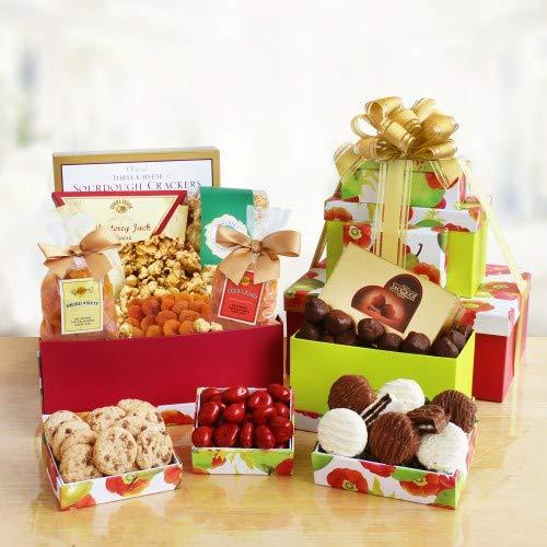 Fruitful Spring Sweetness Gourmet Food Gifts Tower