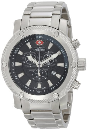 Swiss Precimax Men's SP13083 Volt Pro Analog Display Swiss Quartz Silver Watch