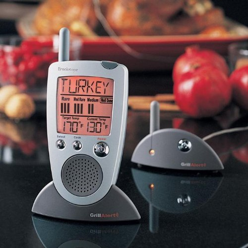 Brookstone Grill Alert Talking Remote Meat Thermometer by Brookstone