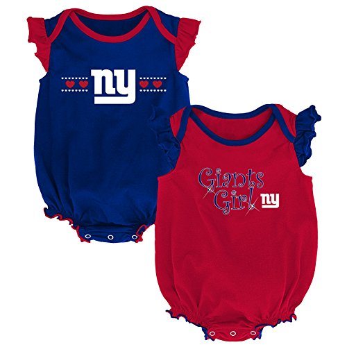 Outerstuff NFL NFL New York Giants Newborn & Infant Homecoming Bodysuit Combo Pack Dark Royal, 6-9 Months
