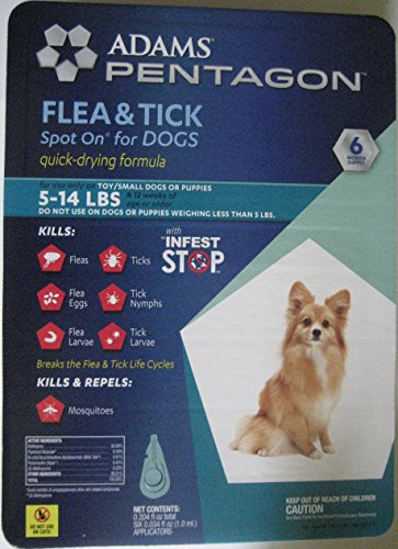 Flea & Tick Spot On for Dogs (5-14 Lbs) by Pentagon & Infest Stop