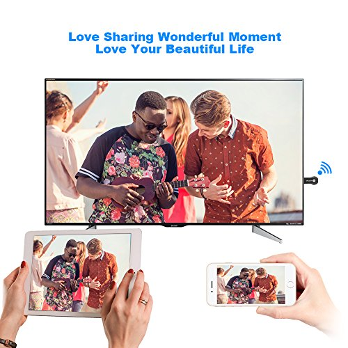 Miracast Wireless Display Adapter,iPhone Dongle 1080P Hdmi,TV Receiver Stick,Toneseas Streaming Media Player,Airplay DLNA for Ipad MacBook Laptop Samsung Android Smart Phones - Business Gift by Toneseas (Image #6)