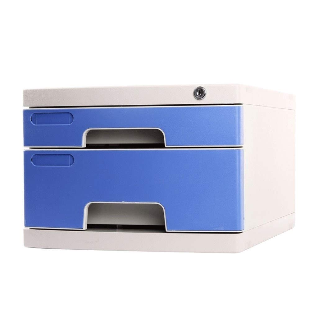 File Cabinet Office Desktop Storage Box Lockable Data Drawer Filing Cabinets 2 Layers Flat File Cabinets