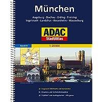 ADAC StadtAtlas München mit Augsburg, Dachau, Erding, Freising, Ingolstadt, Land: shut, Rosenheim, Wasserburg 1:20 000 (ADAC Stadtatlanten 1:20.000)