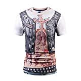 TIFENNY Unisex Holiday Shirt Party Fancy 3D Offensive Boobs Printed Tee Summer Personality Fashion New Men's Tshirt