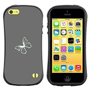 Suave TPU GEL Carcasa Funda Silicona Blando Estuche Caso de protección (para) Apple Iphone 5C / CECELL Phone case / / Gray Grey Minimalist White /