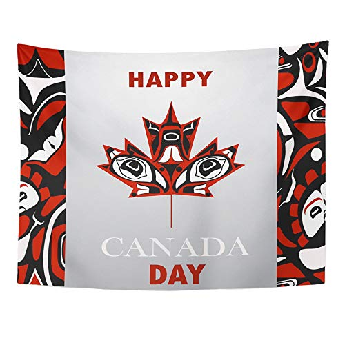 - Emvency Tapestry Wall Hanging Red Leaf Canada Flag The National Day of Maple America Anniversary Birthday Polyester Fabric Home Decor for Living Room Bedroom Dorm 60x80 Inches