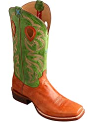 Twisted X Mens Ruff Stock Lime Cowboy Boot Square Toe - Mrsl033