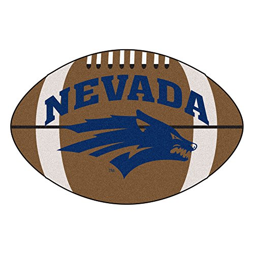 FANMATS NCAA University of Nevada Wolf Pack Nylon Face Football Rug ()