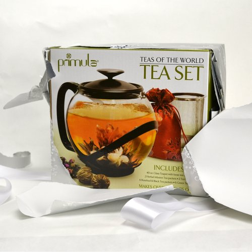 Primula Teas Of The World Set Tempo 40oz Glass Teapot With H