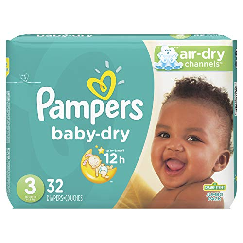 Pampers Baby-Dry Diapers Size 3 32 Count (Packaging May Vary)