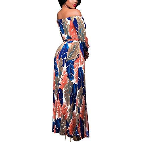 Damen Kleider, BBring Frauen Sommer Boho Langarm Schulterfrei Lang Maxi  Kleid Abendkleid Partykleid Strandkleid Sommerkleid ... 362a68fa11