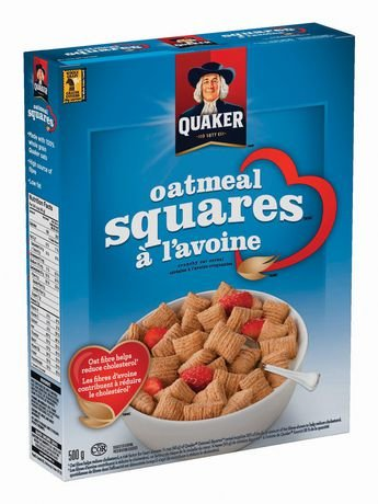 - Quaker Oatmeal Squares Crunchy Oat Cereal 500g