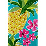 Island Pineapple Expressions Vinyl Flannel Back Tablecloth (60