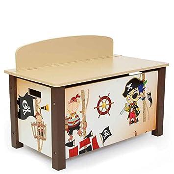 Juguetes Caja 50 CmAmazon X Para Baúl Homestyle4u 66 Pirata 39 y76gbYvf