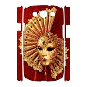 Samsung Galaxy S3 I9300 Venice mask 3D Art Print Design Phone Back Case Personalized Hard Shell Protection HG047584