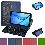 Tab E 8.0 Bluetooth Keyboard Case,Mama Mouth Coustom Design Slim Stand PU Leather Cover with Romovable Bluetooth Keyboard for 8.0'' Samsung Galaxy Tab E 8 T377 Sprint 4G LTE Tablet,Blue