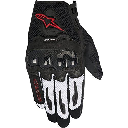 Alpinestars SMX-1 Air Men's Street Motorcycle Gloves - Black/Red / (Street Racing Motorcycle Gloves)