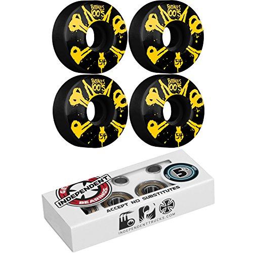 ヘッジ付属品モッキンバードボーンスケートボードホイール100のブラックwith独立ABEC 5 Bearings