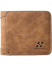 COMLIFE Carteras para Hombres PU Cuero de Piel/Billetera Tarjetero Minimalista para Hombre Multiusos Men's Wallet