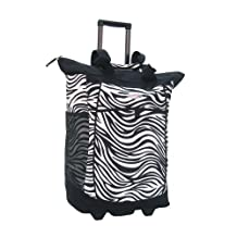 Olympia Luggage Sports Plus Rolling Shopper Tote, Zebra Black, One Size
