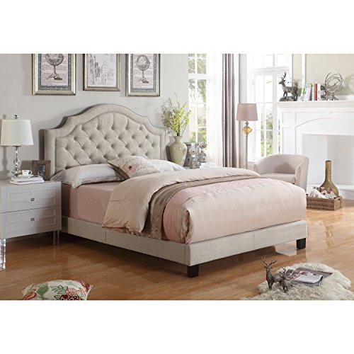 Rosevera B4-1T (1-B) Angelo Tufted Upholstered Panel/Platform Bed (Headboards Upholster)