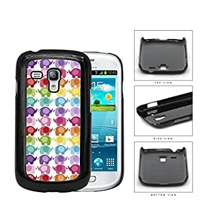 Colorful Mini Baby Elephant Pattern Hard Plastic Snap On Cell Phone Case Samsung Galaxy S3 SIII Mini I8200