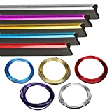 Glossy Car Decoration Trim for Door Dashboard 16ft(5M) - Firwood Interior Exterior Decoration Flexible Strip including install Tool (silver)