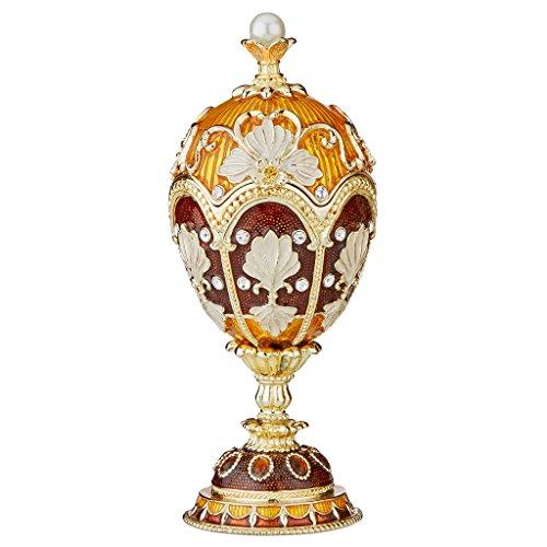 Design Toscano Constantine Enameled Egg, Single, Amber