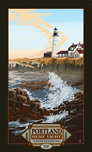 Northwest Art Mall MR-4814 Portland Head Lighthouse Maine Print by Artist Mike Rangner, 11