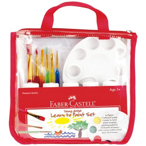 Faber-Castell Young Artist Learn to Paint Set - Washable Paint Set for Kids