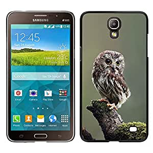 [Neutron-Star] Snap-on Series Teléfono Carcasa Funda Case Caso para Samsung Galaxy Mega 2 [Owl Baby Cute Feathers Blurry Nature]