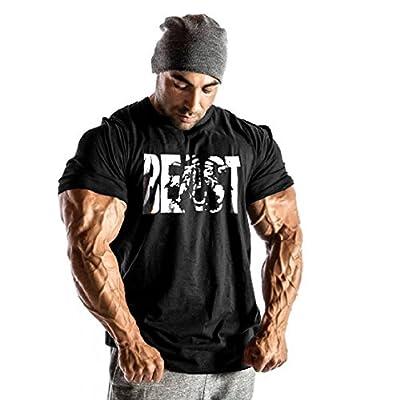 InleaderStyle Men's Stringer Beast Logo Bodybuilding Cotton T-Shirt