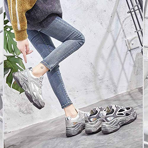 Chunky Moda Black Deporte De Corte Blancos Correr Deportiva Zapatos Bajo Mujer Zapatillas Para Retro wB1pq