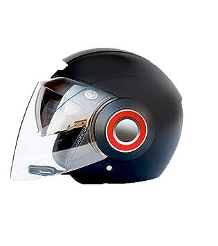 LY-YY Casco de Ciclismo Hombre Motocicleta Bluetooth Casco de Moto Casco Doble Lente Eléctrico