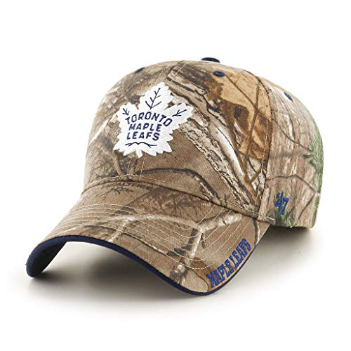 '47 Toronto Maple Leafs NHL Realtree Frost MVP Cap | Adjustable - Maple Leaf Button