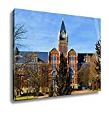 Ashley Canvas, Old Historic Brick Building With A Clock Tower Surrounded By Manicured, 24x30, AG6565804