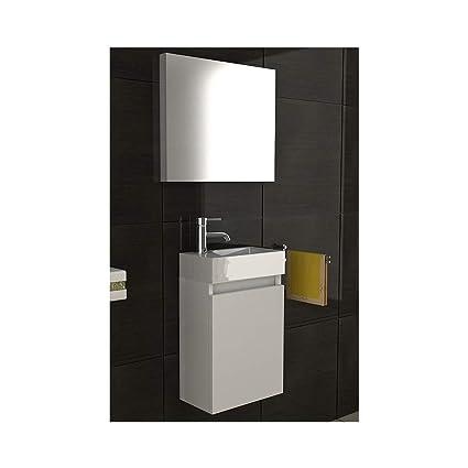 Mobili da bagno/lavabo con mobiletto/Design Specchio/bianco/modello ...