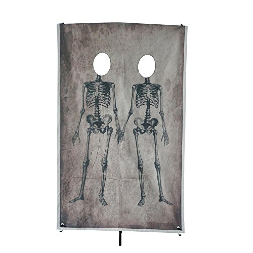 Martha Stewart Living 72.75 in. Couple Skeleton Photo Banner, Great for Halloween Parties,Hangs in a Doorway or other Open space, Made of Canvas Material and very strong]()